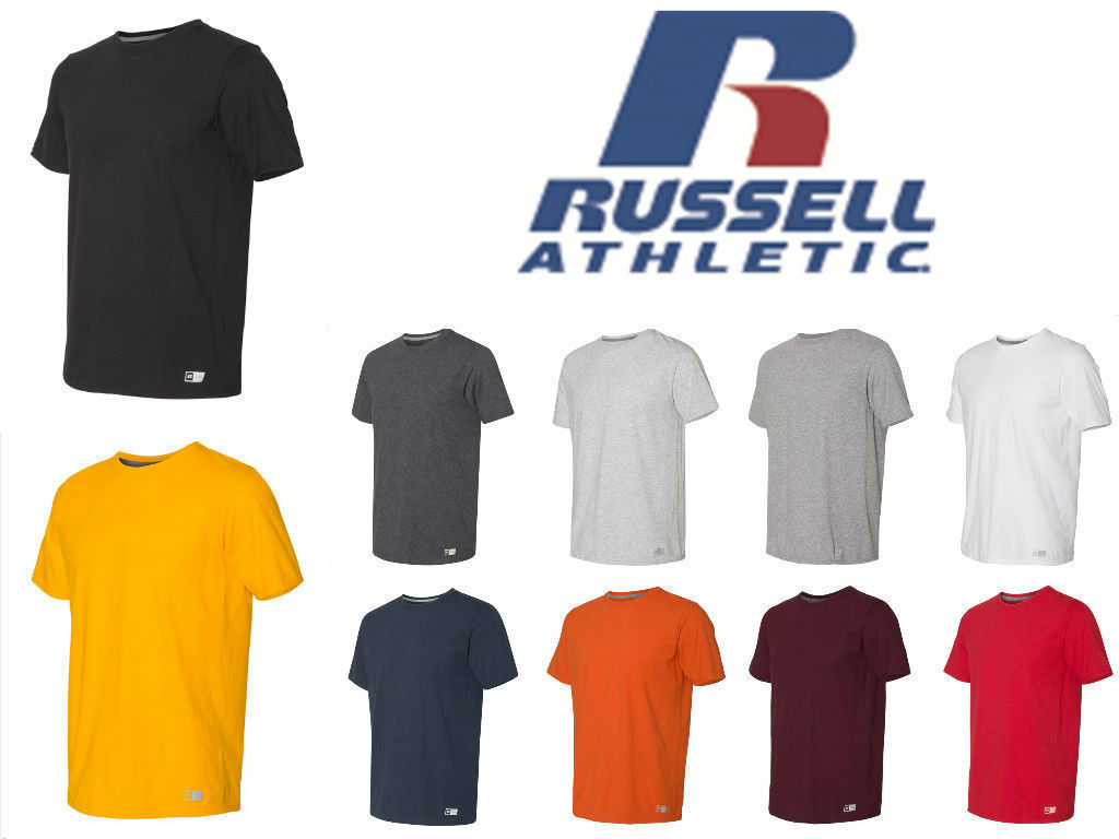 Men/'s Essential Blend Ringer Tee S-3XL Gym Russell Athletic Sports T-Shirt