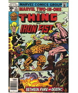 Marvel Two-In-One Comic Book #25 The Thing and Iron Fist Marvel 1977 FINE+ - $3.75