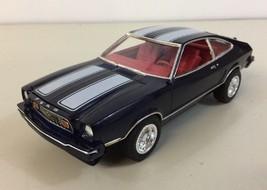 Mustang II Fastback Pro Built Model Kit Black Silver Stripe Chin Spoiler... - $158.39