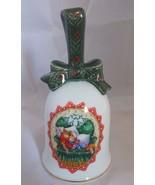 Vintage Avon 1990 Waiting For Santa Porcelain Christmas Bell - $5.89