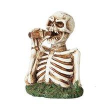 5.5 Inch Pot Smoking Skeleton Bust Incense Burner Statue Figurine - $19.80