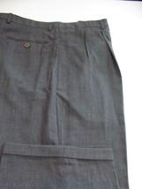 (T262) MINT ARMANI COLLEZIONI LIGHT VIBRANT WOOL GRAY ITALIAN PANTS - 34... - $46.03