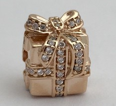 Authentic Pandora Sparkling Surprise Rose Gold Clear CZ Charm 781400CZ New - $76.94