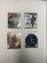 PS3 Game Lot Of 4 - Battlefield, Bad Company, Modern Warfare 2, Turning ... - $19.79