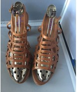 Indigo by Clarks Campania Brown Strappy Leather Sandals Size 8.5M - $29.95