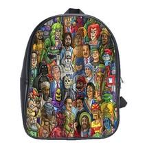 Backpack School Bag Chris Dyer Good Vs Evil Shower Curtain Design Gaming Animati - $33.00