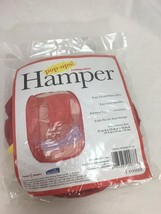 """Pop Open Hamper, Collapsible, 21"""" H x 13"""" W x 13"""" D, Red, New In Package - $5.00"""