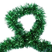 Luxury Deluxe Chunky Christmas Tinsel Garland Tree Decoration 120mm Width - $3.20