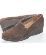 I LOVE COMFORT Brown Suede Leather Slip on Wedge Shoes Size 9 - $9.90