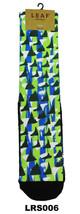 Geometric Colorful LEAF Republic Mens Fun Novelty Socks One Size Comfy C... - $6.94