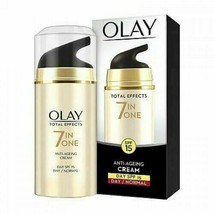 Olay Total Effects 7-in-1 Anti Aging SPF15 Skin Day Cream, Normal, 20g A... - $20.95