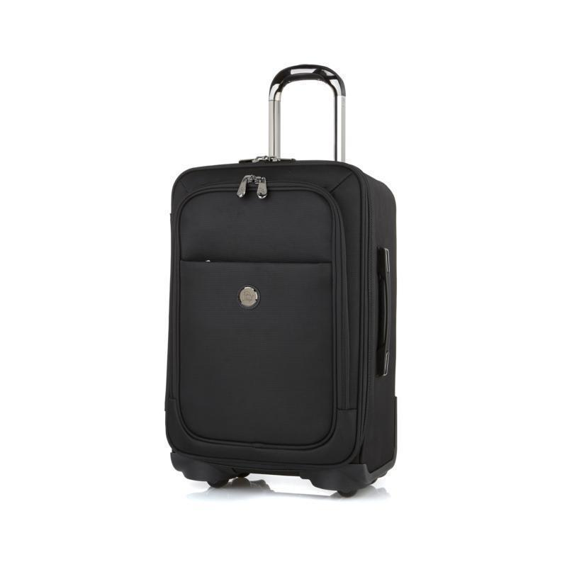 JOY TuffTech Dresser and Briefcase Set with SpinBall Wheels 21, Black