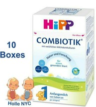HiPP Stage 1 Bio Combiotic Infant Formula 10 Boxes 600g Free Shipping - $319.95