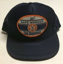 Vtg San Diego Gas Electric Fleet Trucker Hat SDGE Patch Cap California 3... - $29.69