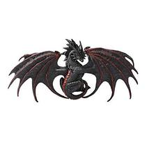 Pacific Giftware Red Black Malice Dragon Wall Plaque Statue by Ruth Thom... - $42.56