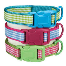 East Side Collection DOG COLLAR Gingham Sweeties for Dog Doggy Puppy NEW - $6.25