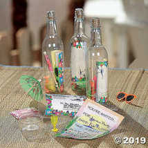 Fun Express Message in a Bottle Luau Tropical Pool Party Invitations  - $19.36