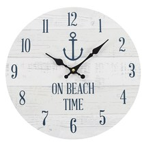 MDF On Beach Time Wall Clock; 43538 - $18.90