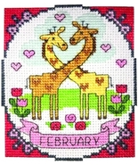 February A Year of Animals Fun & Frolics cross stitch chart Tiny Modernist  - $6.00