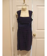 NWT $138 JONES OF NEW YORK TIERED OCCASSION MIDNIGHT ORCHID DRESS SIZE 8 - $36.38