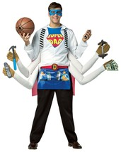 Funny Men's SUPER DAD Shirt Halloween Instant Costume Adult Cosplay Acce... - $56.78
