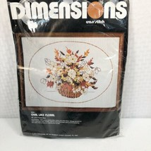 Dimensions Cross Stitch Oval Lace Floral 3016 Partly Finished Vintage Ne... - $9.89