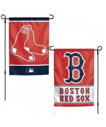 """BOSTON RED SOX 2 SIDED 12""""X18"""" GARDEN FLAG NEW & OFFICIALLY LICENSED - $11.18"""