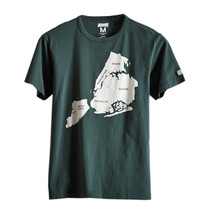 American Eagle Tailgate Mens Green NYC Map Graphic Tee Shirt Sz 2XL XXL ... - $19.59