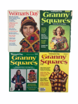 Vintage Woman's Day Granny Squares 1970's Magazine Crochet Craft #s 2 4 6 8 - $23.10
