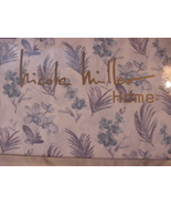 Nicole Miller Blue and Lavender Floral and Leafy Fronds Sheet Set Queen - $80.00
