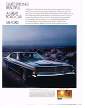 Vintage 1968 Magazine Ad Ford This Year Leaves Rivals Farther Behind Than Ever - $5.93