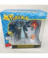 Pokemon Mega Charizard X Exclusive Figure 3-Pack Set [Charmander & Charm... - $134.59
