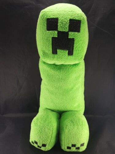 """Minecraft Mojang Jinx Green Creeper with Sound LARGE 15"""" Plush Spin Master Toy"""