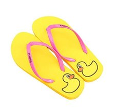 Fashion Summer Item, Lovely Duck Series Flip Flop Beach Casual Sandal, Yellow