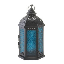 Moroccan Lantern, Large Iron Outdoor Moroccan Lantern Decor For Candle - $24.99