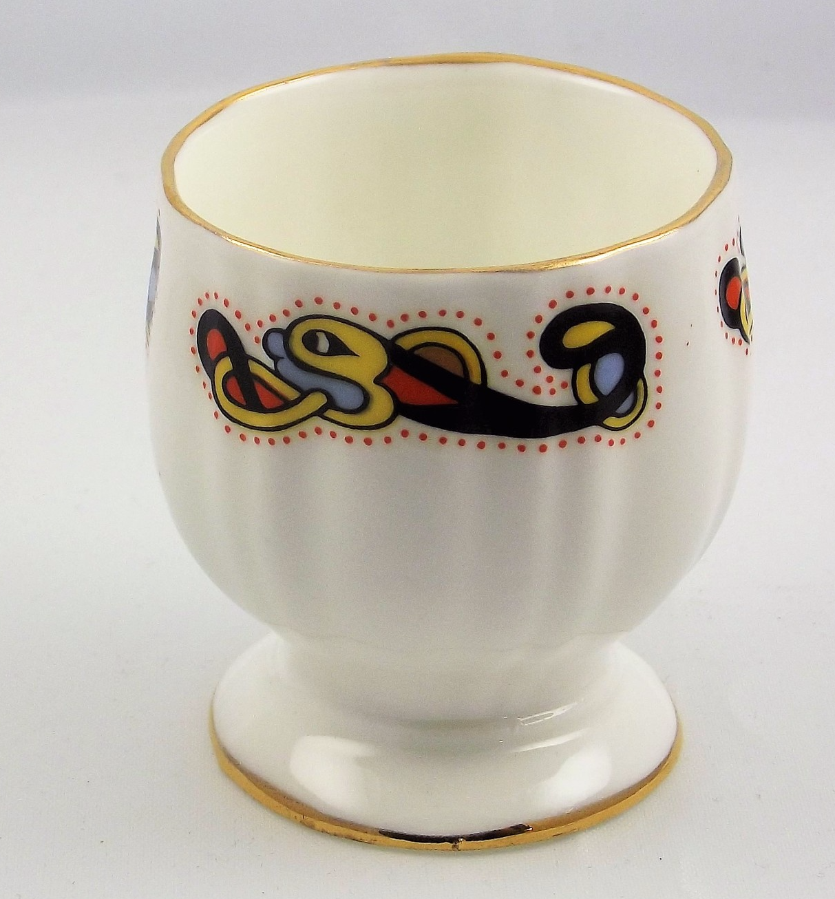 Royal Tara Book of Kells footed egg cup fine bone china Galway Ireland