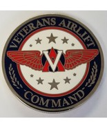 """VETERANS AIRLIFT COMMAND WOUNDED WARRIORS Giving Them Wings 1.5""""  Coin - $29.69"""