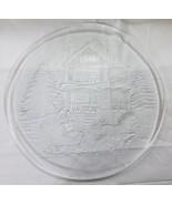 Navidad Vintage Fuente Vidrio Transparente Decoración Hogar Casa Árbol N... - $12.86