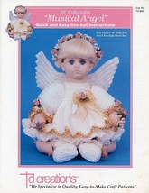 "Musical Angel 19"" Doll Outfit Td Creations Crochet Pattern Leaflet HTF RARE - $4.47"