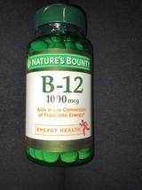 Nature's Bounty Vitamin B-12 1000 mcg, 200 Tablets Each exp 08/2020 - $12.19
