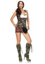 COMBAT CUTIE MILITARY ARMY ADULT HALLOWEEN COSTUME WOMEN'S SIZE LARGE - $18.39