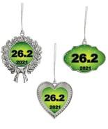 26.2 Marathon Running 2021 Christmas Ornament Silver Gift Frame Heart or... - $14.99