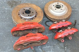 Mercedes CLS63 W219 Front & Rear AMG Brembo 6&4 Piston Brake Calipers & Rotors image 1