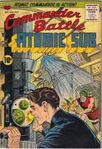 Commander Battle and the Atomic Sub Comic Book #6, ACG/TITAN 1955 FINE+ - $150.84