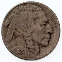 1925-S 5C Buffalo Nickel VF Condition, Natural Color, Nice 4-Digit Date - $69.29