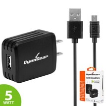 Cyongear Premium 5W Travel Home Wall Charger w/ Micro USB Cable for Andr... - $7.50