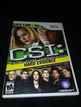 CSI: Crime Scene Investigation - Hard Evidence (Nintendo Wii, 2008) Comp... - $4.94