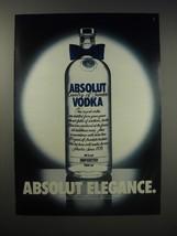 1990 Absolut Vodka Ad - Absolut Elegance - $14.99