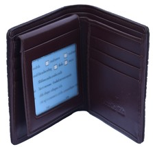 Temptress Brown Cash And Card Slots Palpable Crocodile Leather Wallet - $179.99