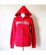 NWT New Nike Ohio State University Womens Red Zip Up Hoodie Jacket Bucke... - $49.99